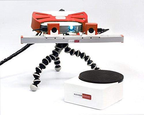 Escáner 3D profesional con plataforma giratoria automática