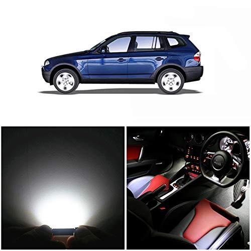 WLJH 13x Blanco puro Canbus Error Paquete de kit de luz LED para automóvil gratis para 2004-2010 X3 E83-2Yrs Garantía