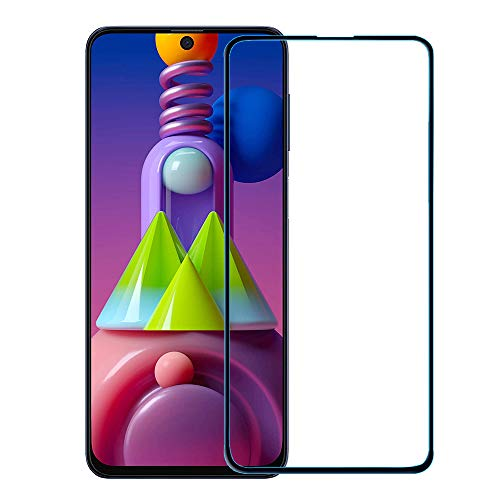 Amazon Brand - Solimo Full Body Tempered Glass for Samsung Galaxy M51 , with Installation kit