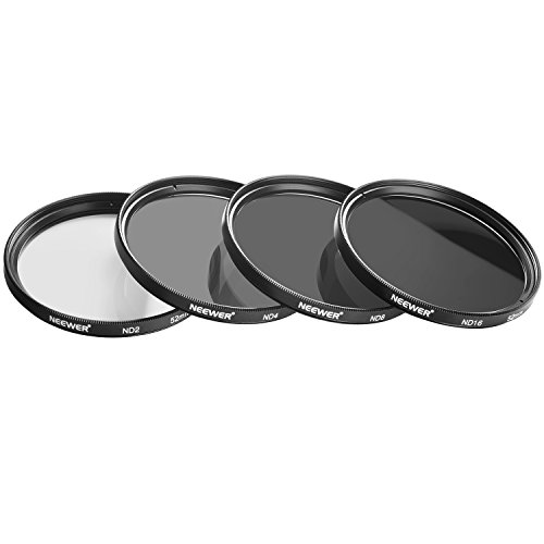 Neewer ND2 / ND4 / ND8 / ND16 Neutral-Density Filter, (52mm) and Accessory Kit for...