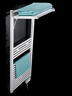 Koh-I-Noor 44027B - Radiador eléctrico, calienta Toallas y secador de Ropa con 1 Estante de difusor Extensible Mobile Eléctrico. Acabado Blanco.