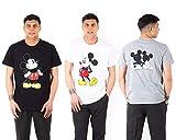 Photo de Fratelli Ditalia Lot de trois t-shirts Disney demi-manches Mickey trois couleurs, S