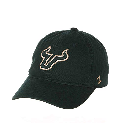 Zephyr Adult NCAA All-American Relaxed Adjustable Hat (USF Bulls - Green)