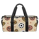 Grand sac de plage de voyage, sac à bandoulière pour sport, gym, football, rugby, basket-ball avec poche sèche et humide