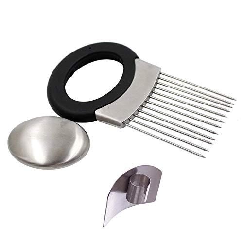 cebolla Holder vegetal patata cortador cortador Gadget tenedor de acero inoxidable cortar ayudante herramienta de cocina ayuda CHOPPER de corte de Gadget