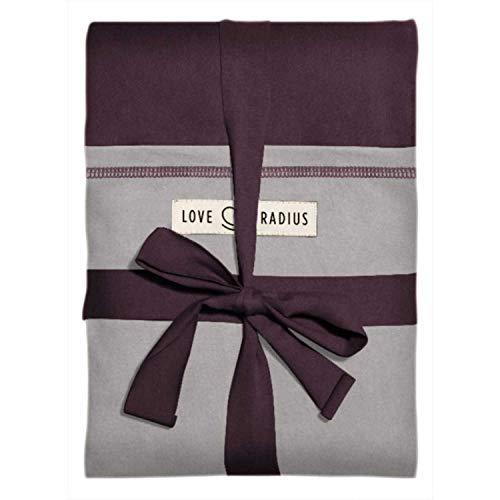 Je Porte Mon Bébé–Echarpe de portage élastique, prune et gris clair