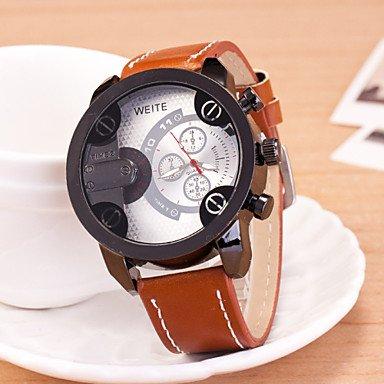 XKC-watches Herrenuhren, WEIDE Männer Sport wantch Zeitzonen Geschäfts Uhr Digital-Uhr relogio Feminino (Farbe : Weiß)