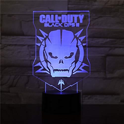 Luces de noche 3d Máscara de Call of Duty Focos de cama...