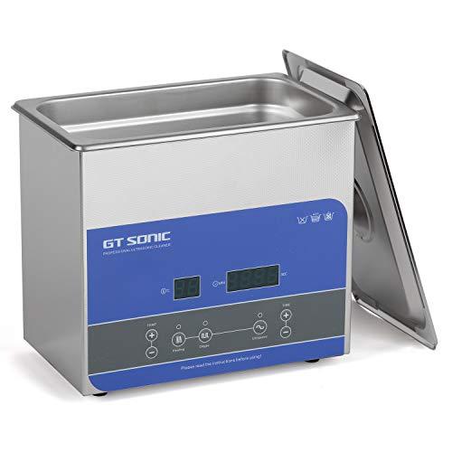 GTSONIC 超音波洗浄機 業務用 小型 超音波洗浄器 R3 3L 100W 40kHz 眼鏡 腕時計 メガネ 超音波 洗浄機 デジタル 加熱 脱気 超音波 クリーナー