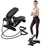 U`King Stepper für Zuhause, Mini Swing Stepper Hometrainer mit Zugbändern Up-Down-Stepper...