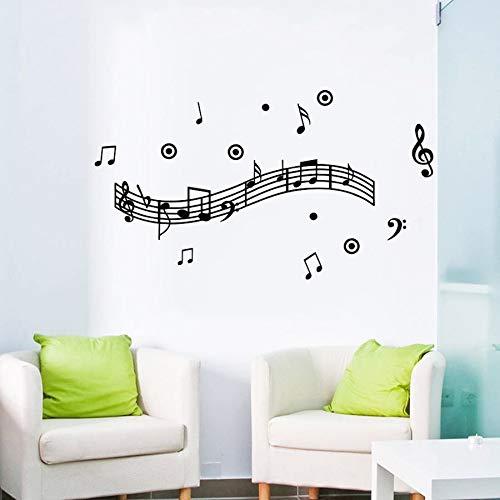LovelyHomeWJ Music Melody Wall Murals Wallpaper para la decoración del hogar Vinyl Art Stave para habitación Música Party Supply