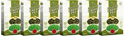 Sam Mills – Green Pea Pasta | Glutenfreie Nudeln aus grünen Erbsen | 6 x 250 g Packung Penne - Pasta aus Hülsenfrüchten
