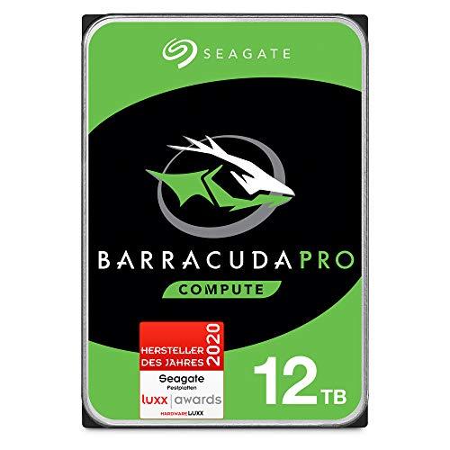 Seagate ST12000DMZ007 BarraCuda Pro 12 TB intern Festplatte (8,9 cm (3,5 Zoll), 7200 u/min, 256 MB Cache, SATA 6 Gb/s, silber, FFP (Frustfreie Verpackung))