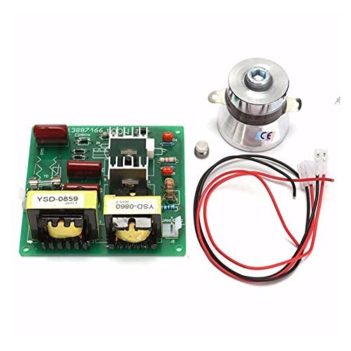 XUNLAN Durable Tablero de Controlador de Potencia de Limpiador ultrasónico AC 110V 100W 40K + 1pcs 60w 40k Transductor Ajuste para máquinas de Limpieza ultrasónicas Wearable