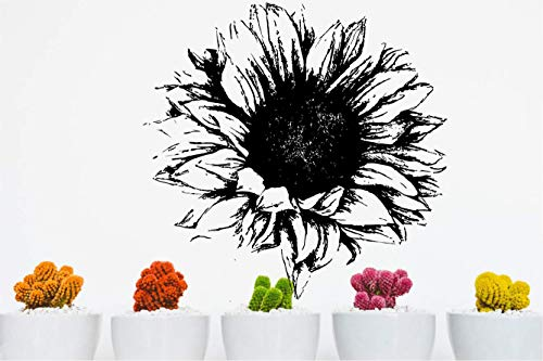 Sunflower Beautiful Flowers Vinyl Wall Decals Decors Removable Stickers Murals