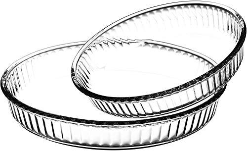 Pasabahce Borcam Plat à gratin rond en verre 2 pièces