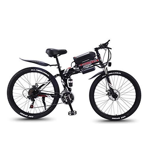 JINSUO Bicicleta de montaña eléctrica plegable de 26 pulgadas, 21 velocidades, de...