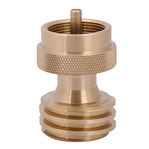 Yardwe Accesorio para la válvula reguladora de latón del Adaptador de Recarga del Tanque de propano para Cilindros de Tanque de Gas para Exteriores