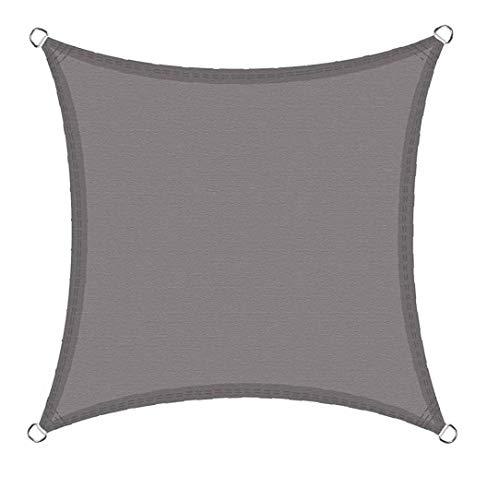 Odoukey toldo se Vela Impermeable para Exterior Cuadrada terraza en el jardín, Impermeable sombrilla de la Vela Dosel 2x2 Gris