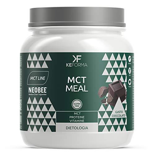 Keforma Mct Meal 480 gr Proteine a Catena Media Sostitutivo pasto Dieta Chetogenica Gusto Cioccolato