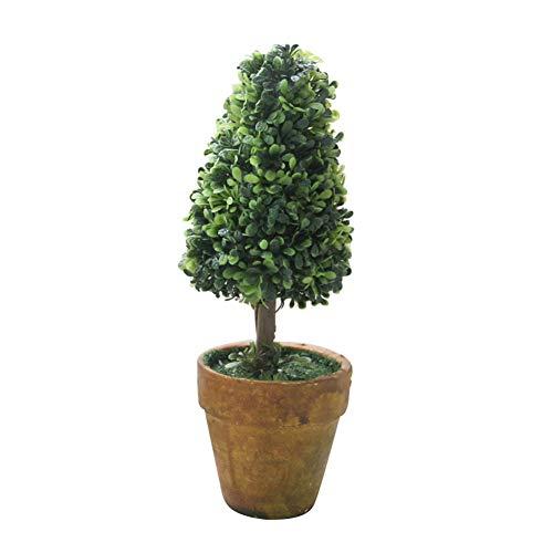 Homeofying Plante Artificielle en Pot avec cœur en Forme d'étoile Vert, G, Vert