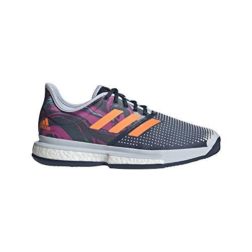 adidas Zapatilla SOLECOURT M PRIMEBLUE, Tenis Hombre, HALO Blue/Screaming Pink/SCREA, 46 2/3 EU