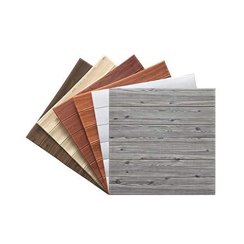 Panel de pared 3D imitación madera grano ladrillo papel tapiz pelar y pegar salón dormitorio decoración de pared de fondo (10 paquetes, 4.9 metros cuadrados) (color : B)