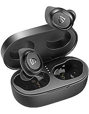 SOUNDPEATS Truefree 2 ワイヤレスイヤホン IPX7防水 特製イヤーフック付き 長時間再生 スポーツイヤホン Type-C充電対応 高音質 低遅延 良きフィット感 サウンドピーツ 完全ワイヤレス イヤホン クリア通話 Bluetooth イヤホン カナル型イヤホン かわいい 小型 無線 Bluetooth5.0 ブルートゥース ヘッドホン [正規メーカー1年保証] (ブラック)