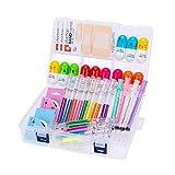 34 piezas lindo conjunto de suministros de papelería, resaltadores de jeringa plumas de aguja de enfermería para estudiante de enfermería