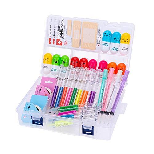 IMTTST&R 34 pcs Mignon Fournitures Scolaires Set, surligneurs de seringue et stylos à Aiguilles de Soins Infirmiers, stylos de la Pilule de Vitamine Cool Cadeaux pour infirmière étudiant