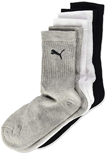 PUMA Kinder SPORT JUNIOR 3P Socken, grey/White/Black, 35-38 (3er Pack)