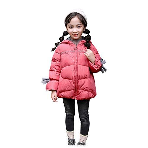 Likecrazy Baby Mädchen Mäntel,Niedlichen Bowknot Winter Kapuzenmantel Daunenjacke Kapuzenjacke Outwear Kinder Warm Outwear Jacke Steppjacke Winterjacke