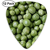 Green Seeds Peas Guitar Picks Set 12 Púas de ukelele, que incluyen 0.46 mm, 0.71 mm, 0.96 mm Guitarra acústica Pick and Pick Box