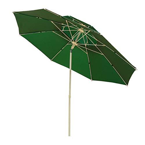 Sombrilla Parasol para Jardin Terraza 8 Pies Sombrilla De Jardín Con Mecanismo De Manivela E Inclinación, Pequeño Doble Techo Sombrillas De Mesa De Mercado Para Patio Exterior, Piscina, Patio Trasero,