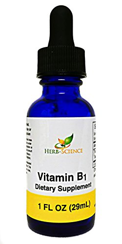 Liquid Vitamin B1 Drops Liquid Thiamine Drops, Alcohol-Free Liquid Extract, Support Digestion, Maintain Proper Mental Function & Convert Foods into Energy - Herb-Science