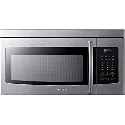 Image of Samsung ME16K3000AS Over-The-Range Microwave, 1.6 Cubic Ft, Stainless Steel: Bestviewsreviews