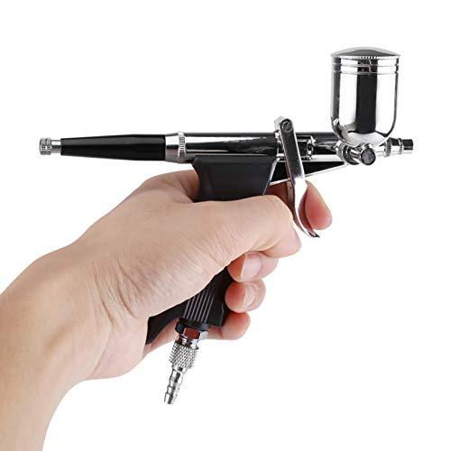 Pistola de pulverización, pistola de pulverización de arte de alimentación lateral de 2 tazas, manual de bricolaje, neumático, gatillo, aerógrafo para pintura de arte 166, para pintura en aerosol, art