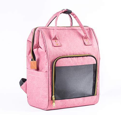 Zedelmaier Rucksack Tragetasche für Hunde und Katze (Pink)