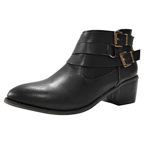 ELECTRI❤️ Sandale Femme Talon Daim Cuir Cheville Basse Plates Zippe Haut Ete Printemps Chic Elegante Confort Noir, Brun, Café 35-43