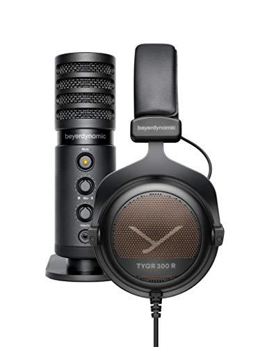 beyerdynamic TEAM TYGR mit TYGR 300 R Kopfhörer und FOX USB-Mikrofon, offener Gaming-Kopfhörer, geeignet für PS4 Konsole, PC und Mac