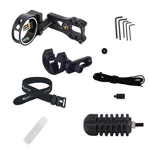 PA 1 Set Archery Compound Bow Accessories Combo Bow Sight Kits Arrow Rest Stabilizer Sling Wax Peep Sight