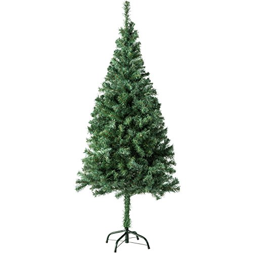 TecTake Sapin de Noël Artificiel avec Socle en Métal | Arbre de Noel - Diverses Couleurs et Tailles au Choix - (150 cm | 310 Branches | Vert | No. 402817)