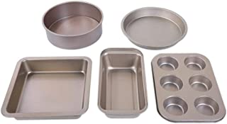 5-Piece Bakeware Set Baking Equipment Non Stick - with Muffin Tray, Oven Tray, Cake Pan, Loaf Pan and Spring Form Cake Tin...