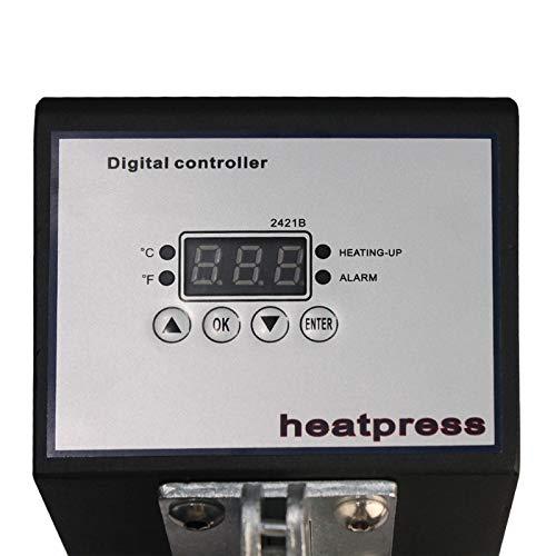 Dual Press Heat Press Machine,Press Hand Crank Dual Heat Element Plate 2