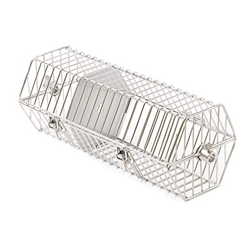 onlyfire 17-inch Stainless Steel Round Tumble Rotisserie Spit Rod Basket Fits for Any Grill