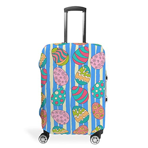 Easter Graphic Multiple Types Baggage Suitcase Covers Dustproof 19 to 32 Inch for Baggage White m(22-24 inch)
