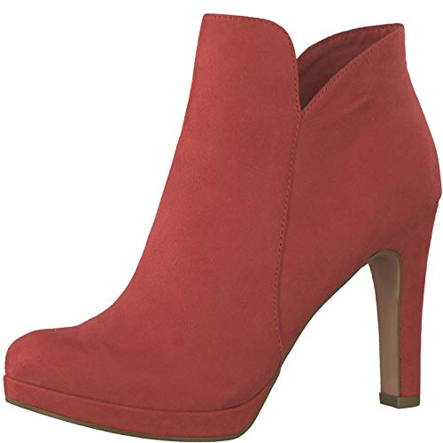 Tamaris 1-1-25316-22 Damen AnkleBoot,Stiefel,Halbstiefel,Bootie,hoher Absatz,sexy,feminin,Touch-IT,Lipstick,37 EU