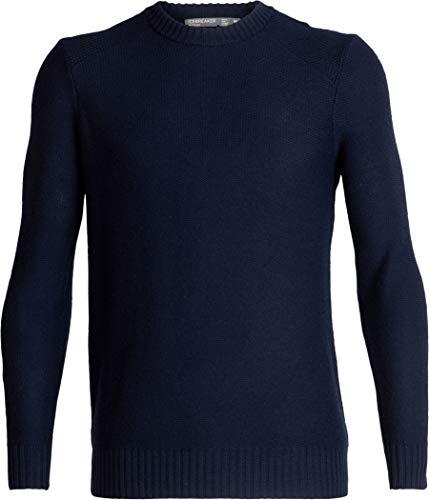 Icebreaker Waypoint Crewe Sweater Men, Midnight Navy Modèle XXL 2019 Couche intermédiaire
