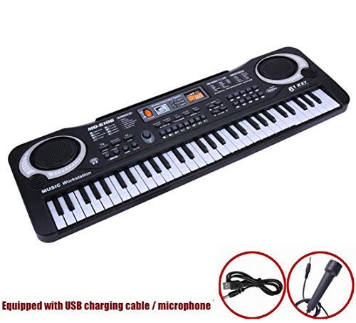61 Key Keyboard Piano for Kids, Muziek Piano Toy, met inbegrip van microfoon, geschikt voor beginners of kinderen/kinderen/Jongens/meisjes 1-8 jaar oud