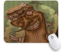 EILANNAマウスパッド ホラー切り株高齢者漫画ハロウィーン ゲーミング オフィス最適 高級感 おしゃれ 防水 耐久性が良い 滑り止めゴム底 ゲーミングなど適用 用ノートブックコンピュータマウスマット